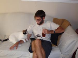 """Dixie and her daddy, """"Mr."""" Luke"""