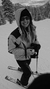 Miss Cheryl on the slopes!